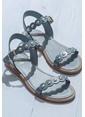Elle Deri Sandalet Mavi